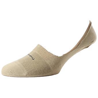 Pantherella Footlet aus ägyptischer Baumwolle Schuh Liner - Light Khaki