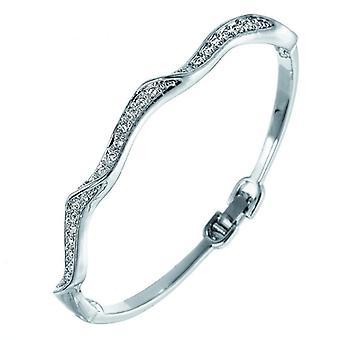 Oliver Weber Bangle Fine Rhodium Crystal