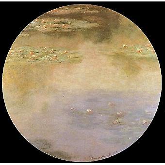 Lis d'eau, Claude Monet, 50x50cm