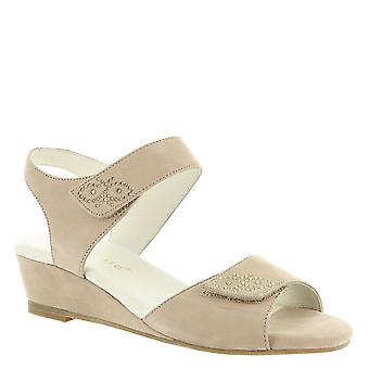 David Tate Womens Queen Leather Open Toe Casual Slingback Sandals