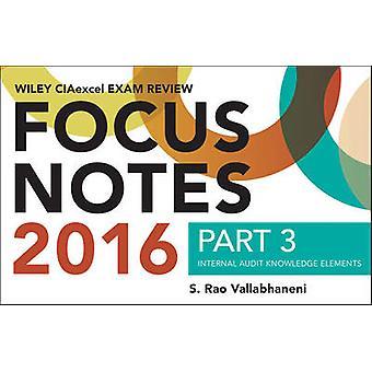 Wiley CIAexcel examen 2016 Focus aantekeningen - deel 3 - interne Audit K