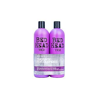SÄNGYNPÄÄTY TIGI Dumb Blonde Shampoo & hoitoaine 750ml