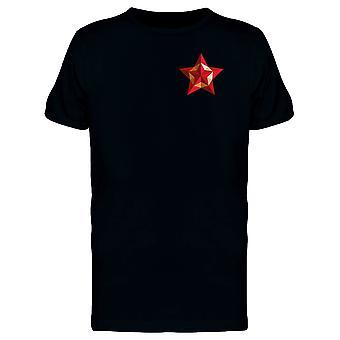 Upperside Red Yellow Star Tee Men's -Image by Shutterstock