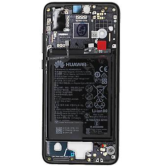 Genuine Huawei P20 Black Middle Frame with Battery | iParts4u