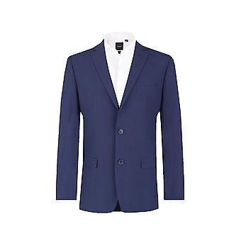 Dobell Herre Oxford Blue Suit jakke skræddersyet pasform Notch revers