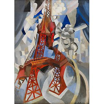 Eiffel Tower Red tower,Robert Delaunay,60x43cm