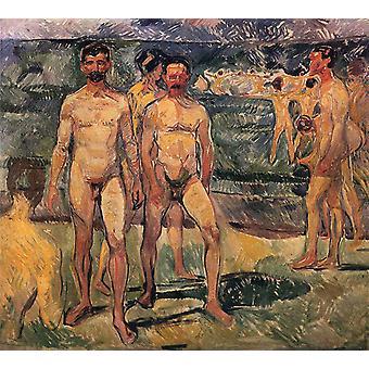 Badende, Edvard Munch, 50x45cm