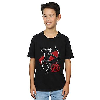 Marvel Boys Avengers Endgame Mono Hawkeye T-Shirt