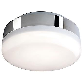 Firstlight-LED badkamer plafond flush licht chroom, witte polycarbonaat diffuser IP44-3432CH