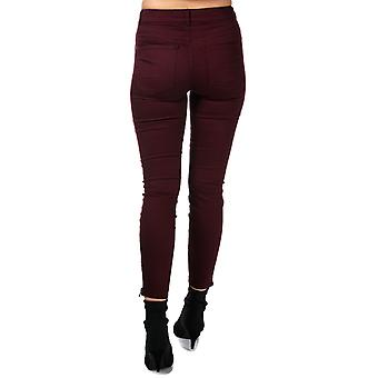 Womens Vero Moda Hot Seven Ankle Zip Trousers In Winetasting