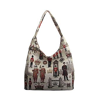 Royal guard shoulder hobo bag by signare tapestry / hobo-rgd