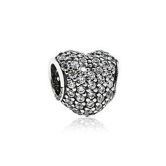 Pandora Pflaster Herz Silber & klar CZ Charme 791052CZ