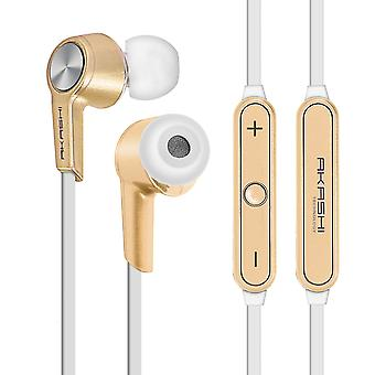 Bluetooth in-ear headphones Magnetic HD Audio Akashi- Gold