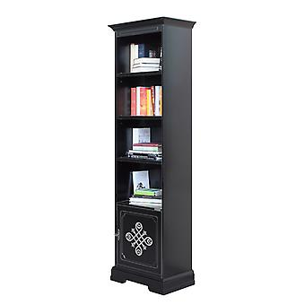 Bücherschrank High Black 1 Tür