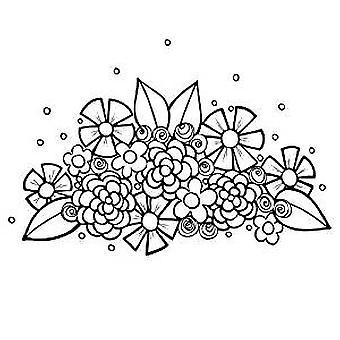 Spellbinders Flower Swag 3 Cling Stamp Set (SBS-079)