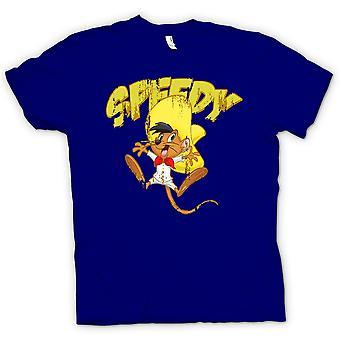 Мужская футболка - быстрый - скорейшего Гонсалес