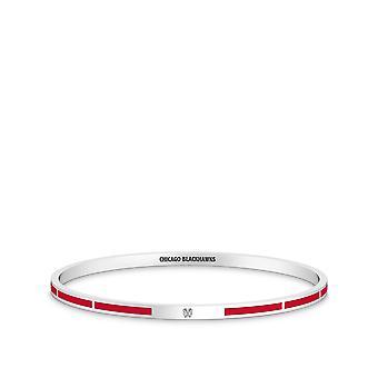 Chicago Blackhawks Bracelet In Sterling Silver Design by BIXLER