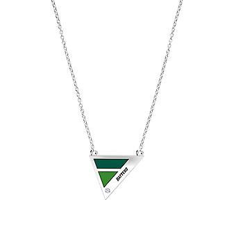 Stetson Universiteit diamant hanger ketting in Sterling Zilver ontwerp door BIXLER