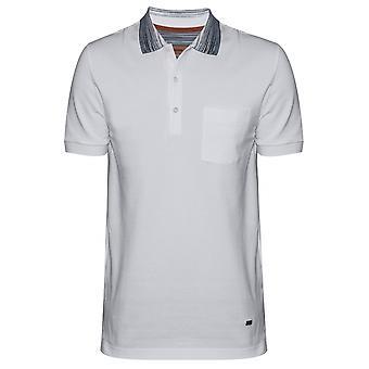 MISSONI White Contrast Collar Polo Shirt