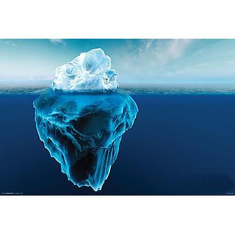 Affiche - Studio B - Glacier - Dark Blue Water 36x24
