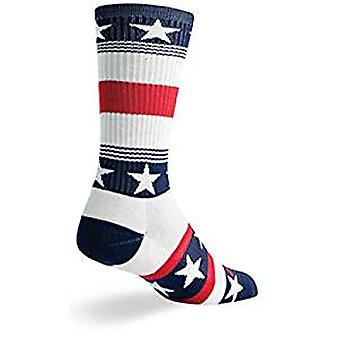 Socks - SockGuy - Lacrosse Padded LAX Patriot L Cycling/Running