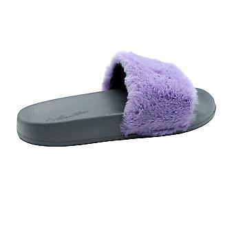 Fluffy purple slides