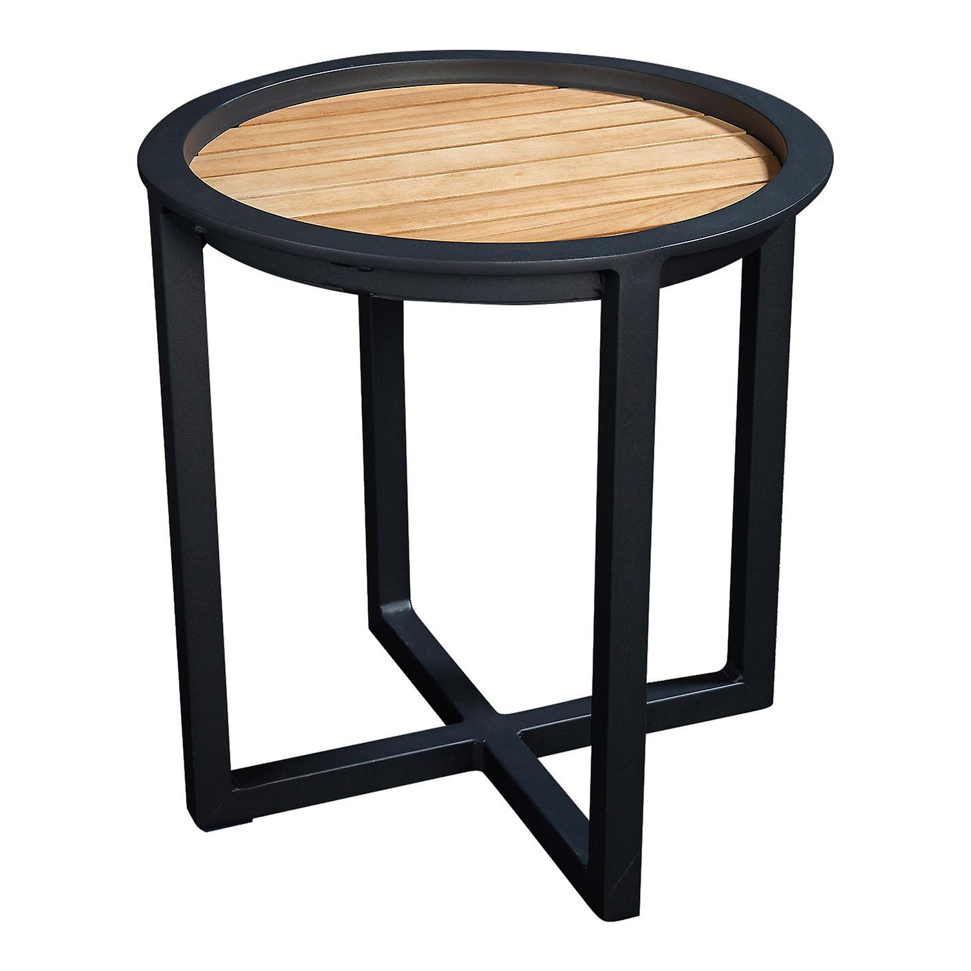Plage7 - France QUEENS LOUNGE TABLE Alum/TEAK 50CM  Noir