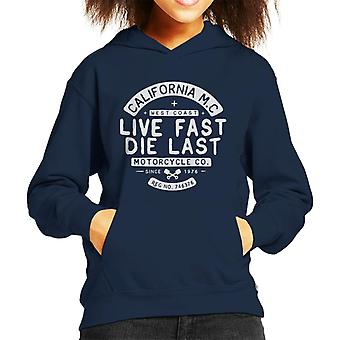 Divide & Conquer Live Fast Die Last Kid's Hooded Sweatshirt