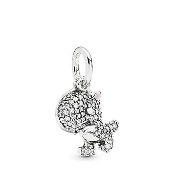 PANDORA Pave dinosaurus Dangle charme-798186CZ