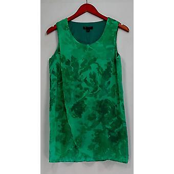 H de Halston Top Túnica sin mangas con estampado floral verde A287114
