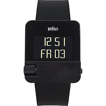 Braun prestige digital Quartz Digital Men's Watch with Silicone Bracelet BN0106BKBKG
