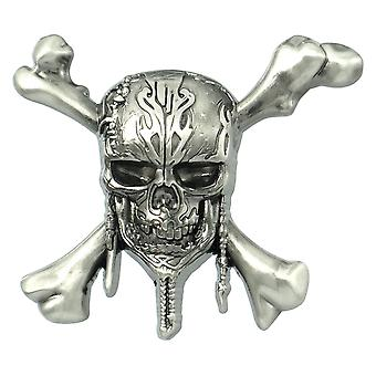Pin - Pirates of The Caribbean - Pirate Skull Deluxe Pewter Lapel New 85811