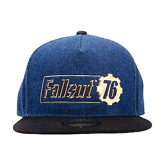 Fallout Vault 76 Baseball Cap Fallout Logo Badge new Official Blue Snapback