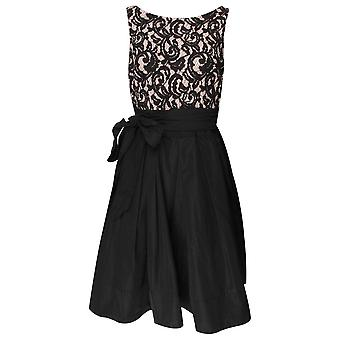 Frank Lyman Black Lace Sleeveless Cocktail Dress