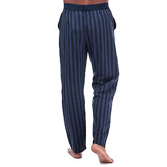 Mens Ben Sherman Luca Lounge Pants In Navy- Elasticated Waistband - Button Fly-