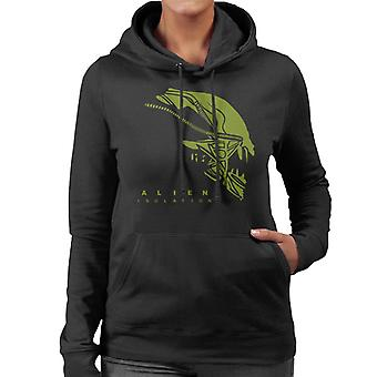 Alien Isolation Xenomorph Head Women's Hooded Sweatshirt