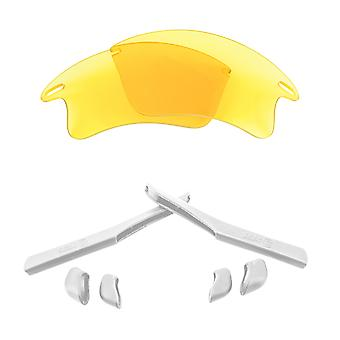 SeekOptics Replacement Lenses Accessories Kit for Oakley FAST JACKET XL Polarized Hi Yellow White UV400