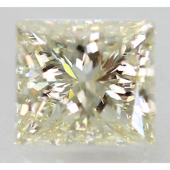 Certificado 1.51 Carat I VVS2 Princesa Diamante Natural Mejorado 6.64x5.87mm 2EX