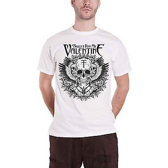 Bullet For My Valentine T Shirt Temper Temper Eagle logo Official Mens White