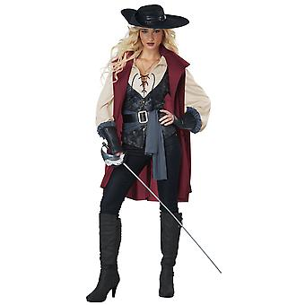 Lady Musketeer Solider Guard Renaissance French Warrior Adult Womens Costume