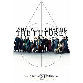 Fantastic Beasts: The Crimes Of Grindelwald Movie Poster - Double Sided Advance Style