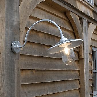 Garten Handel St Ives gewölbt Schwan Hals außen verzinkten Wandleuchte