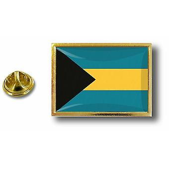 Pine PineS Badge Pin-apos;s Metal With Butterfly Pinch Flag Bahamas