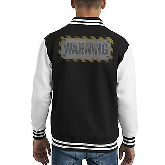 The Crystal Maze Warning Kid's Varsity Jacket