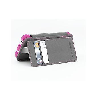 PureGear Folio Case with Kickstand and Card Slot for Samsung Galaxy S4 - Pink