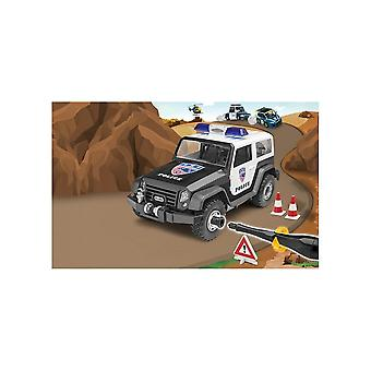 Revell Junior Kit-Off Road poliisi auto 00807 1:20