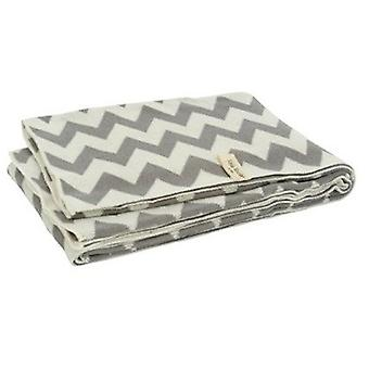Blanket Jollein Chevron White grey 75X100 Cm