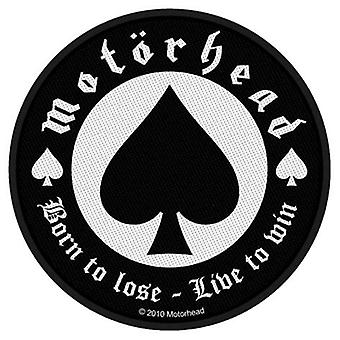 Motorhead Patch Born to Lose Band Logo Official New Black Cotton Sew On Circular