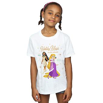 Disney Girls Princess Holiday Magic In My Heart T-Shirt