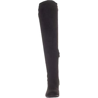 Bar III Womens Gabrie Fabric Almond Toe Over Knee Fashion Boots